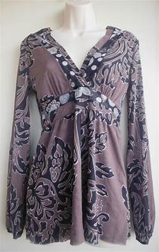 Sweet Pea Frati Size Chart Sweet Pea By Frati Top Size Large Ornate Floral Gray