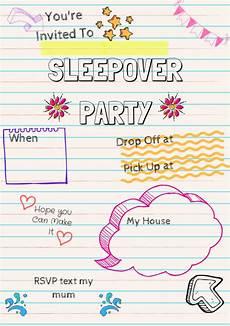 How To Make A Sleepover Invitation Sleepover Party Invite Sleepoverparty Sleepoverparty