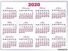 Large 2020 Calendars 2020 Calendar With Big Numbers Buy This Stock Vector And