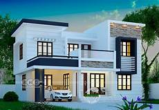 4 Bhk House Design Plans 1748 Square Feet Modern 4 Bedroom House Plan Kerala