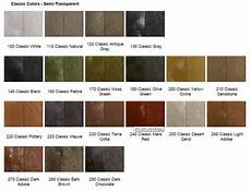 Stained Concrete Colors Chart Concrete Color Stains Sealgreen