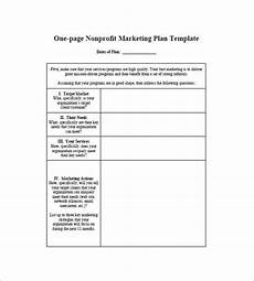 1 Page Marketing Plan One Page Marketing Plan Template 16 Free Sample