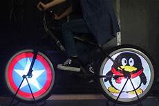 Bicycle Light Powered By Wheel Bike Wheel Led Lights 128 Leds 7 Colors Diy Programming Wl15