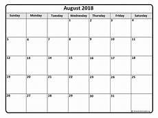 Printable Calendar August August 2018 Calendar 51 Calendar Templates Of 2018