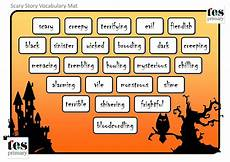 Halloween Themed Words Vocabulary Mats With A Scary Halloween Theme 24 Themed