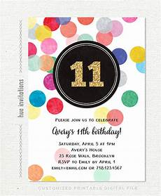 11th Birthday Party Invitation Wording 11th Birthday Party Invitations For Girls Gold Glitter