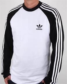 adidas sleeve shirt adidas originals sleeve 3 stripes t shirt white black