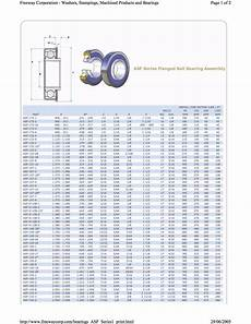 Flange Bearing Size Chart Bearings Sizing Chart Asf Bearings Freeway Bearings