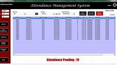 Attendance Management System Template Attendance Management System V1 0 Pk An Excel Expert