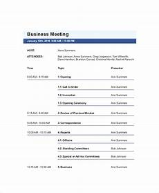 Business Trip Agenda Template 10 Business Meeting Agenda Templates Free Sample