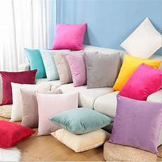 Sofa Pillows Solid 3d Image by Mgaxyff Square Cushion Solid Color Cover Cotton Canvas