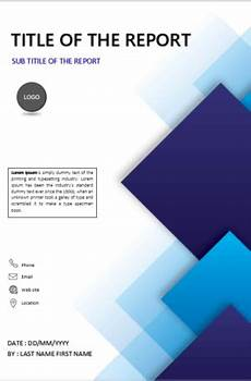 Cover Page For Assignment Free Download Download Cover Page Templates For Ms Word Cover Page