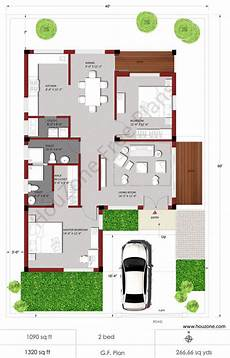 house plans for 2bhk house houzone