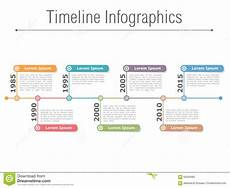 Timeline With Pictures Template Timeline Infographics Stock Vector Illustration Of Graph
