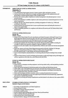 Clinical Trial Manager Resume Clinical Operations Resume Samples Velvet Jobs