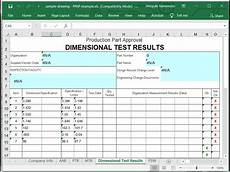 Ppap Forms And Excel Templates In Excel Ppap Software Free Download Create Ppap Forms From Pdf