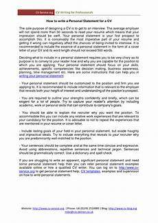 Writing A Personal Statement For A Cv Personal Statement In Cv Top Rated Writing Company