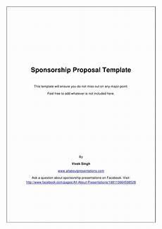 Non Profit Sponsorship Proposal Template Sponsorship Proposal Template