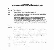itinerary format sample itinerary template 9 free documents in pdf
