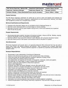 Nursing Supervisor Job Description Job Description Rn Supervisor