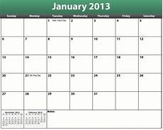 Templates Calendar Printable Pdf 2013 Calendar Template