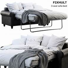 Floor Sofa Bed 3d Image by Furniture Ikea Fixhult Sofa Bed 3d Cgtrader