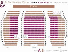 Door County Auditorium Seating Chart Box Office Information St Cecilia Music Center
