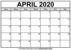 print calendar april 2020 april 2020 printable calendar 123calendars com