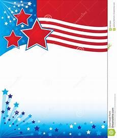 Patriotic Template Patriotic United States Flag Border Background Stock