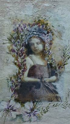 fresco mixed media fractured angelics mixed media watercolor fresco painting