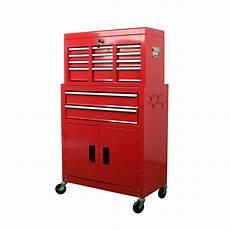 foxhunter metal tool box chest cabinet storage organizer