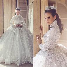 2017 luxury lace gown wedding dresses with