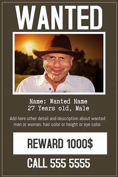Funny Wanted Posters Funny Wanted Poster Flyer Template Postermywall