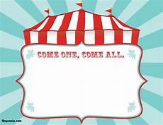 Carnival Theme Party Invitations Templates Free Printable Circus Birthday Invitations Template Bagvania
