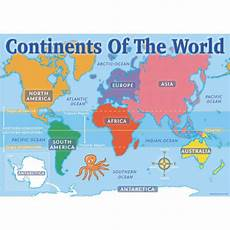 Continent World Map Continents Of The World Map Chart Pack