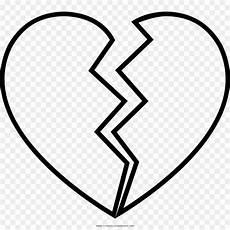 Malvorlage Gebrochenes Herz Black And White Drawing Broken Line Clip