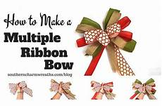 How To Fold Ribbon How To Make A Bow With Multiple Ribbons