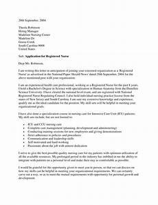 Pediatric Nurse Cover Letters Registered Nurse Cover Letter Nursing Medicine