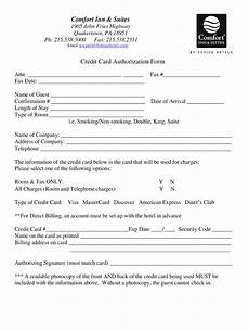 Hotel Credit Card Authorization Form Choice Hotels Credit Card Authorization Form Fill Out