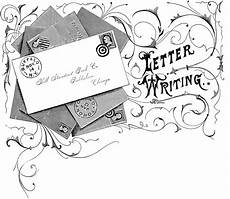 Letter Riting Vintage Letter Writing Image The Graphics Fairy