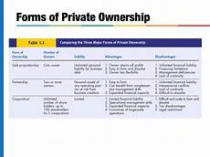 Three Types Of Business Ownership Forms Of Business Ownership And Organization