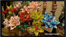 How To Make Candy Wrappers How To Make Flowers Out Of Candy Wrappers Youtube