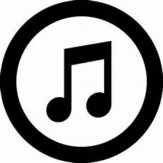 Music Note Logo Itunes Logo Of Amusical Note Inside A Circle Icons Free