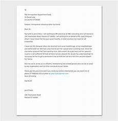 Reference Letter For Immigration For A Friend Reference Letter For Friend Tips With Format Amp Sample