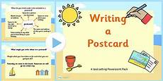 postcard template for powerpoint how to write a postcard powerpoint task setter ks1 writing