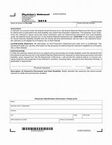 Doctors Statement Pa 1000 Ps 2014 Physician S Statement Of Permanent And