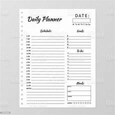 Office Daily Planner Template Minimalist Daily Planner Template Blank White Notebook