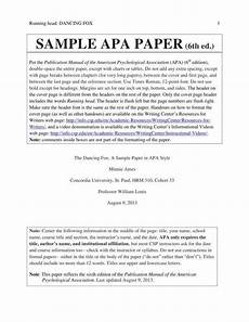 Apa Format 6th Edition Sample Paper 7 Academic Paper Templates Free Amp Premium Templates