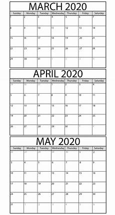 3 Month Calendar 2020 3 Month Calendar Printable 2020 Calendar For Planning