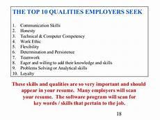 Characteristics For Resume Qualities Job Resume Awesomethesis X Fc2 Com